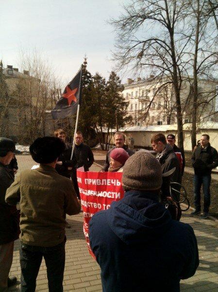 Народный сход в центре Ульяновска