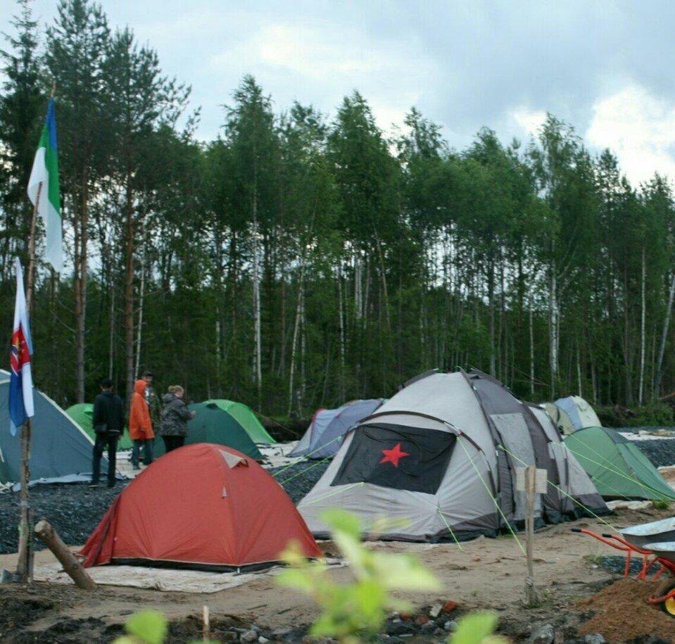 Шиес: активисты Левого Блока прибыли в протестный эко-лагерь